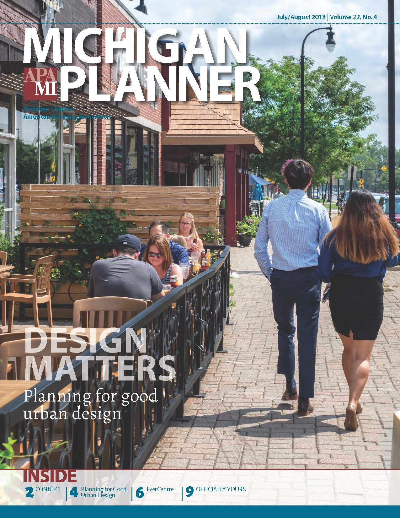 Cover of Michigan Planner July August 2018 issue